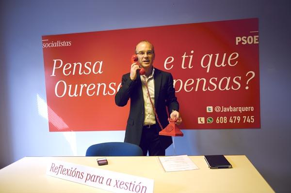 """Photo of O candidato socialista presenta a campaña """"Pensa Ourense"""""""