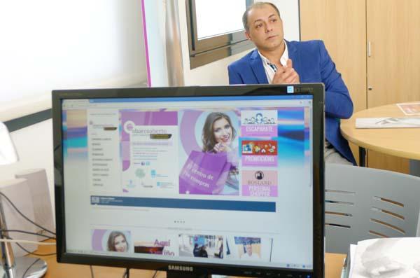 Imaxe da nova páxina web do Centro Comercial Aberto O Barco.