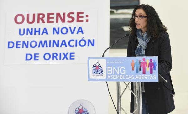 A cabeza de lista, Susana García, clausuraba o acto./ Foto: Carlos G. Hervella.