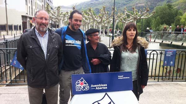 Candidatos do BNG-Asembleas Abertas en Valdeorras.