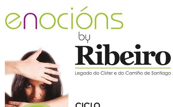 """Detalle do cartaz de """"Enocións by Ribeiro""""."""
