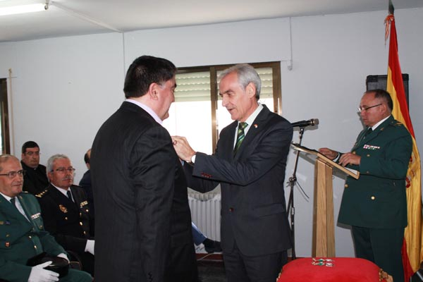 O subdelegado do Goberno en Ourense, nun dos momentos da celebración.