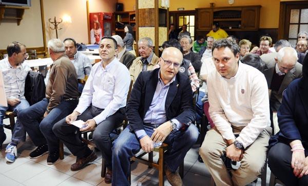 Manuel Baltar, entre os candidatos populares de Manzaneda e Trives./ Foto: Carlos G. Hervella.