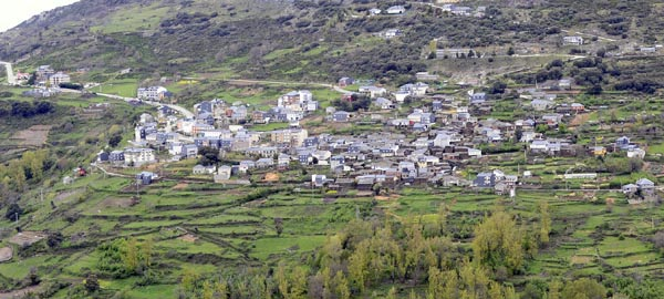 Panorámica do pobo de Casaio, no concello de Carballeda de Valdeorras./ Foto: Carlos G. Hervella.