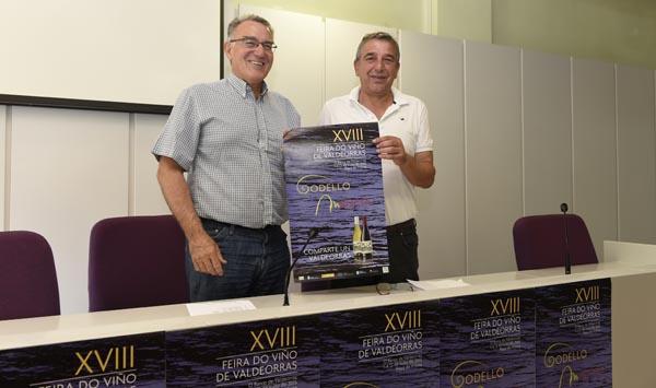 O presidente do CRDO Valdeorras, José Vicente Solarat, co alcalde do Barco, Alfredo García, na presentación da XVIII Feira do Viño./ Foto: Carlos G. Hervella.