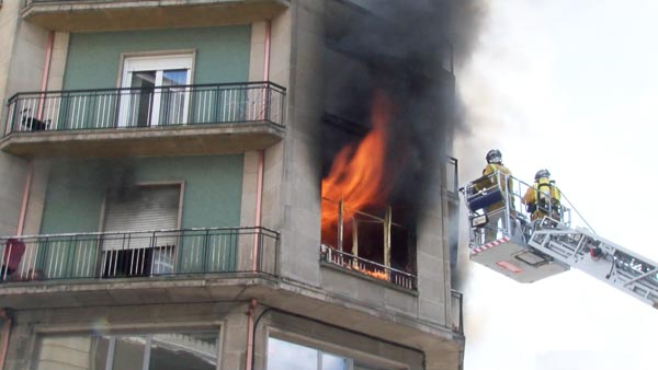 Photo of Incendio no centro de Ourense