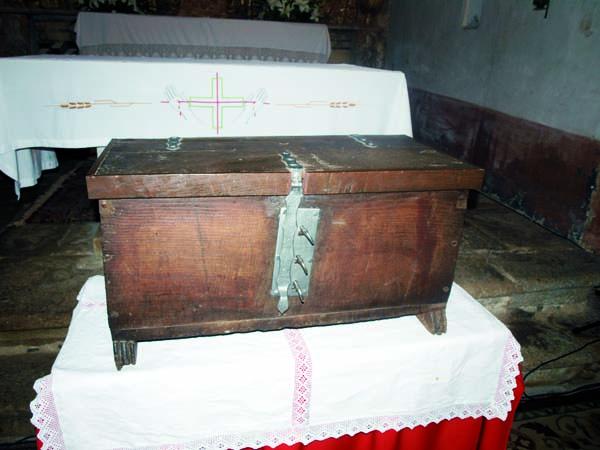 Imaxe da Arca das Tres Chaves, arquivo do Couto Mixto./ Foto: José Rodríguez Cruz.