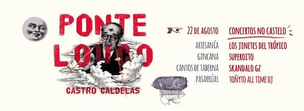 Cartaz do Festival Ponte Louco de Castro Cadelas.