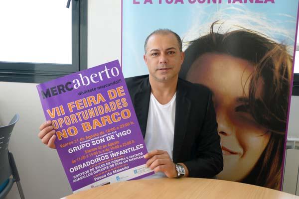 O presidente do Barco Centro Comercial Aberto (CCA), Ángel Álvarez, na presentación do programa desta mostra de oportunidades./ Foto: Ángeles Rodríguez.