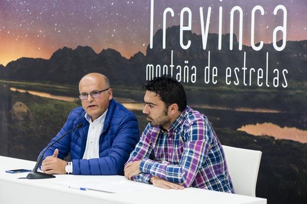 O presidente da Deputación e o alcalde da Veiga, na presentación de Trevinca como destino turístico Starlight.