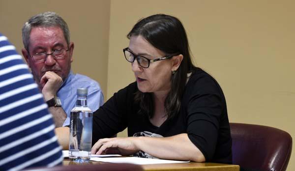 A concelleira de Sanidade da Rúa, Ana Fernández Vizcaya. /Foto: Carlos G. Hervella.
