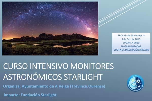 Cartaz do I Curso de Monitores Starlight Trevinca.