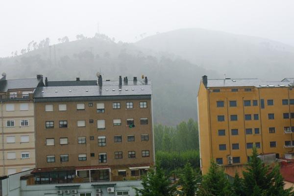 As chuvias e o vento xa afectan a Valdeorras dende a tarde do 15 de setembro.