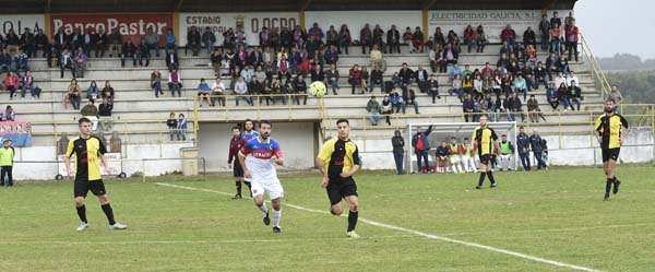Photo of CD Trives-UD Ourense no campo do Agro