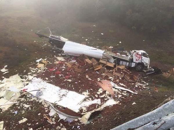Photo of Falece o condutor dun camión tras caer dende unha ponte en Viana