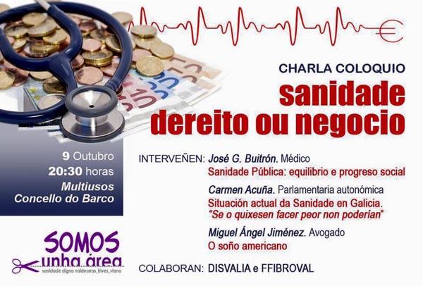 Photo of A sanidade pública, analizada nunha charla-coloquio no Barco