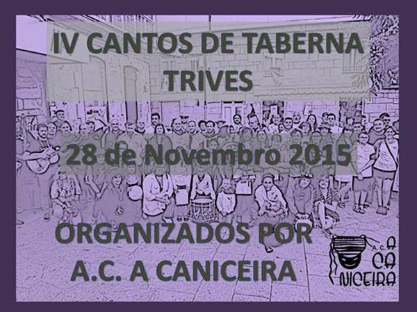 Cartaz da cuarta edición dos Cantos de Taberna en Trives.