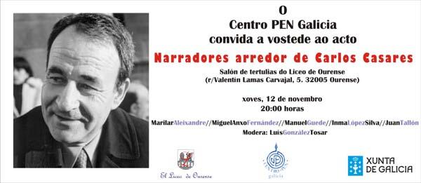 Convite ao acto no Liceo de Ourense.