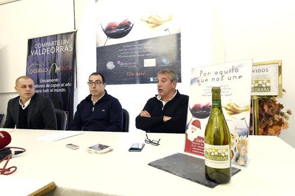 Presentación da campaña de Nadal de AEVA e do Barco CCA na que participa tamén o CRDO Valdeorras./ Foto: Carlos G. Hervella.