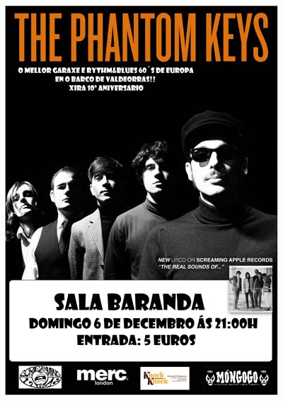 Cartaz do concerto de Phantom Keys no Baranda.