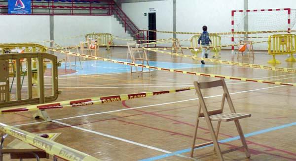 Proba de orientación indoor en Calabagueiros. /Foto: Mónica G. Bellver.