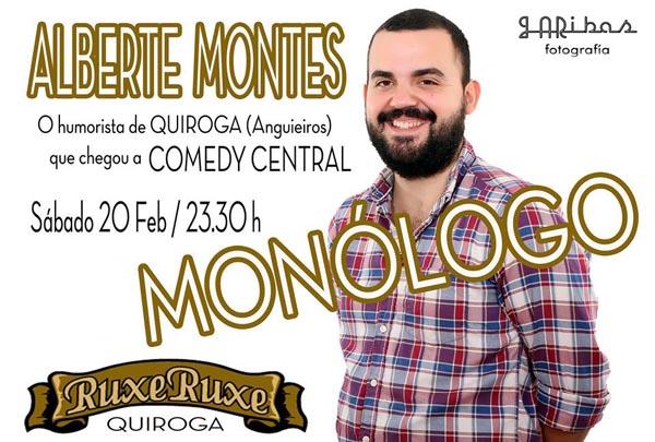 Photo of Monólogo de Alberte Montes no Ruxe Ruxe de Quiroga