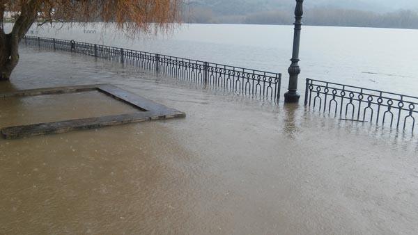 Photo of O Aguillón rues, inundado
