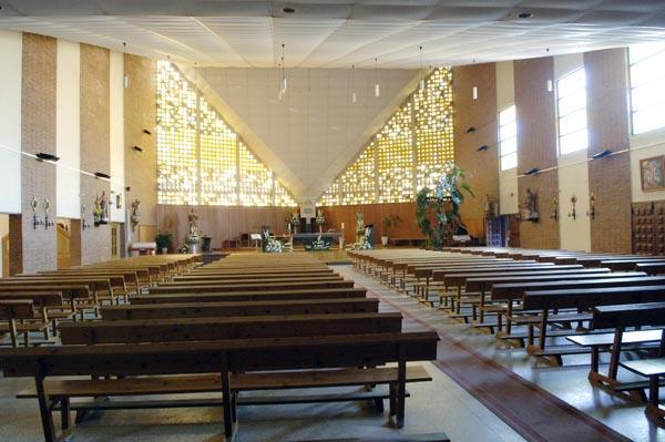 Interior da igrexa barquense de Santa Rita./ Foto: Carlos G. Hervella.