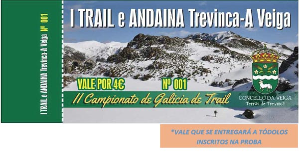Photo of Vales para incentivar á hostalaría veiguesa no I Trail e Andaina Trevinca