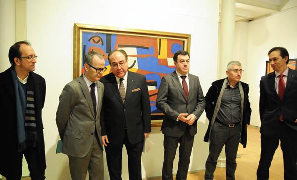 """Un dos momentos do acto inaugural de """"A fronteira infinda"""" en Ourense."""