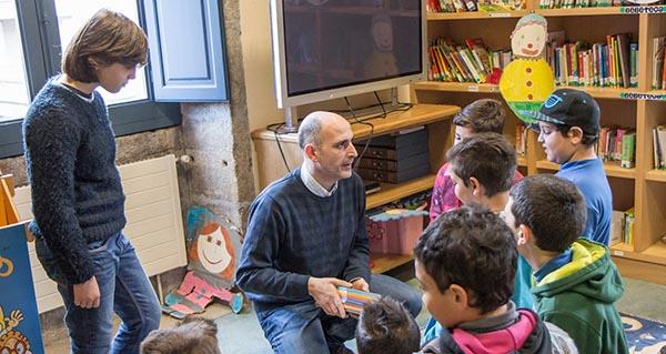 Photo of Alumnos do CEIP Princesa de España de Verín visitan a Biblioteca Municipal