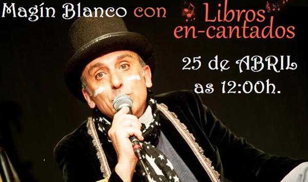 Photo of Maratón de lectura do Quixote e actuación de Magín Blanco, na biblioteca ruesa