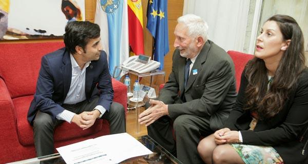 Photo of Rey Varela reúnese co alcalde e a tenente de alcalde de Vilariño de Conso