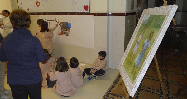 Photo of Clase de pintura con Elisa Abalo no colexio Divina Pastora do Barco