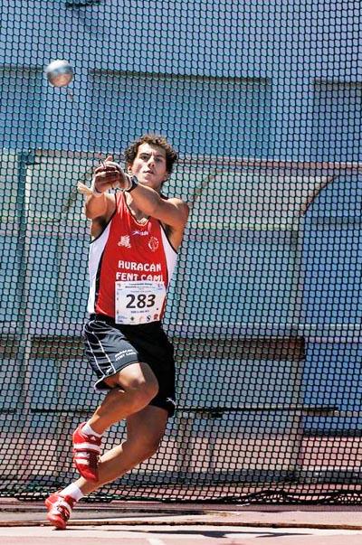O lanzador de martelo barquense, Carlos Revuelta.