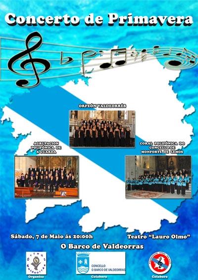Cartaz do Concerto de Primavera, no Barco de Valdeorras.