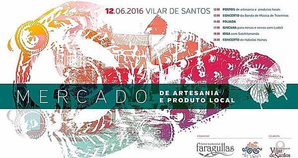 Cartel da programación do mercado de artesanía.