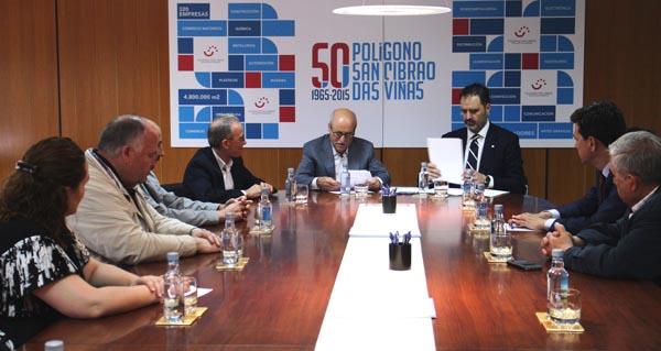 Photo of Empresarios do polígono de San Cibrao impulsan a seguridade laboral