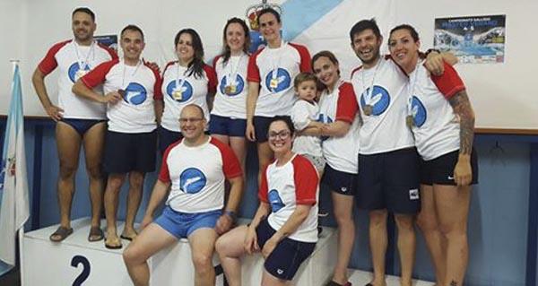 Photo of Medallas para o Club Escualos no campionato galego máster de verán
