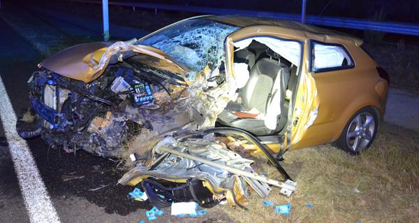 Photo of Un condutor falecido e outro ferido grave tras un choque na A-75 en Verín