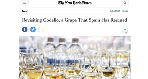 Photo of O godello, protagonista dun artigo de The New York Times