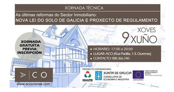 Photo of A ACO organiza unha xornada técnica gratuíta sobre o sector inmobiliario