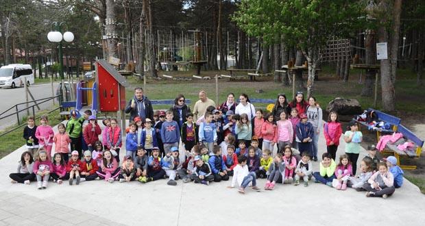 Photo of Os alumnos do CEIP Julio Gurriarán, de excursión de fin de curso na comarca trivesa