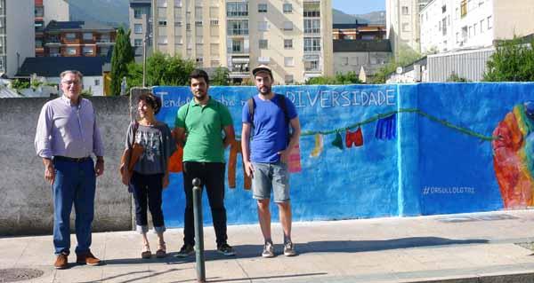 Photo of Mural reivindicativo das Xuventudes Socialistas do Barco a favor do colectivo LGTBI
