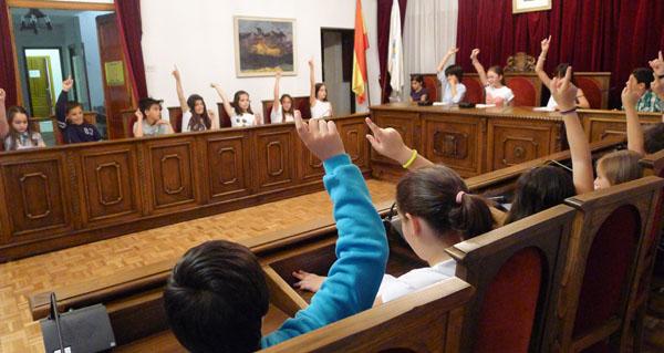 Photo of Pleno infantil do CEIP Condesa Fenosa no Concello do Barco