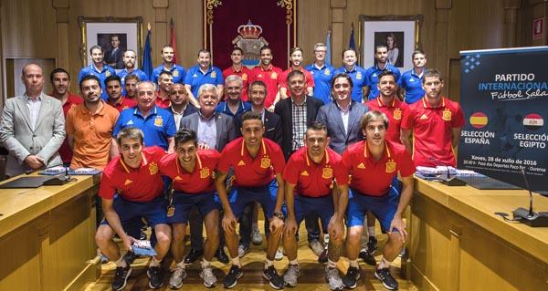 Recepción á Selección Española de fútbol sala.