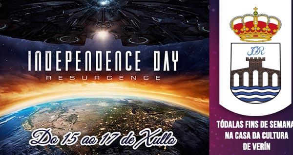 """Photo of """"Independence day"""", no cinema de Verín esta fin de semana"""