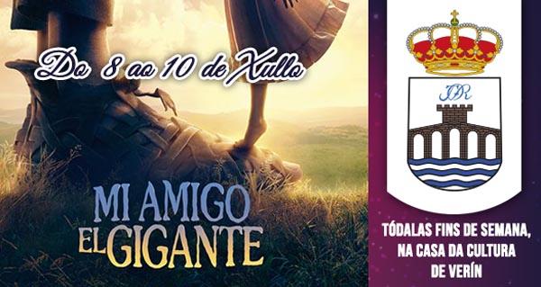 """Photo of """"Mi amigo el gigante"""", do 8 ao 10 de xullo no cine de verán de Verín"""