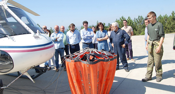 A base de Valdeorras voltará a ter helicóptero propio en agosto