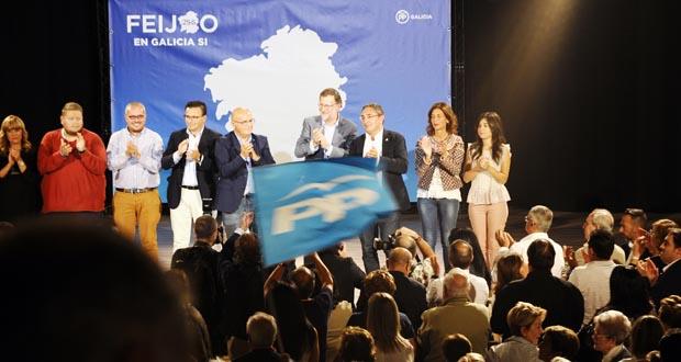 """Photo of Rajoy, no Carballiño: """"Feijóo gañou por incomparecencia de todos os demais"""""""
